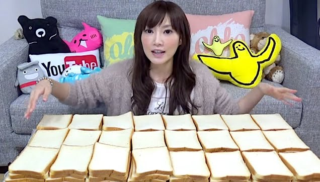 Kinoshita Yuka eats 100 slices of bread