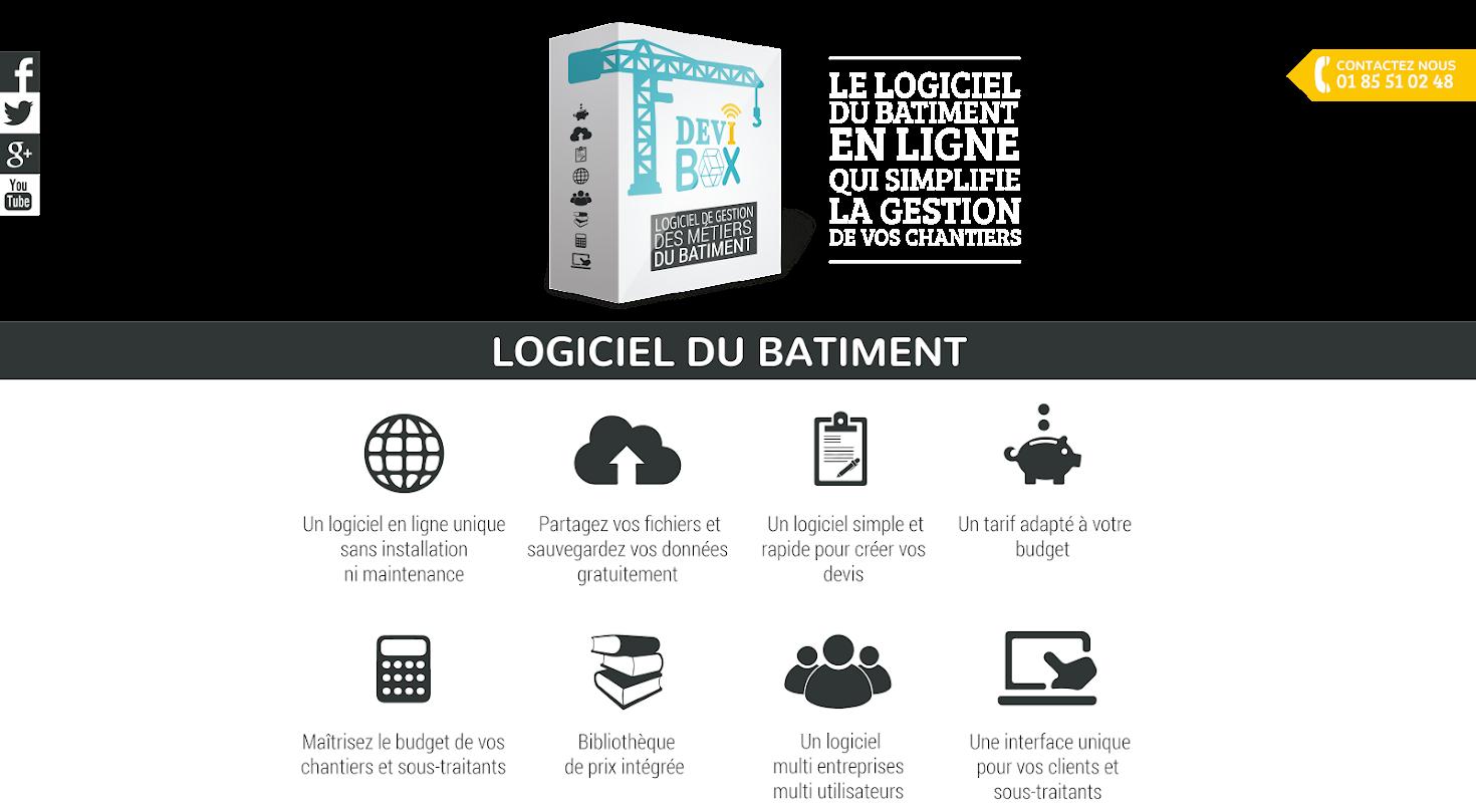 DEVIBOX - Logiciel de devis en ligne du bâtiment pour artisans