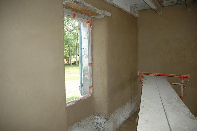 La maison d 39 apr s stage des 12 et 13 juillet for Enduit chaux chanvre interieur