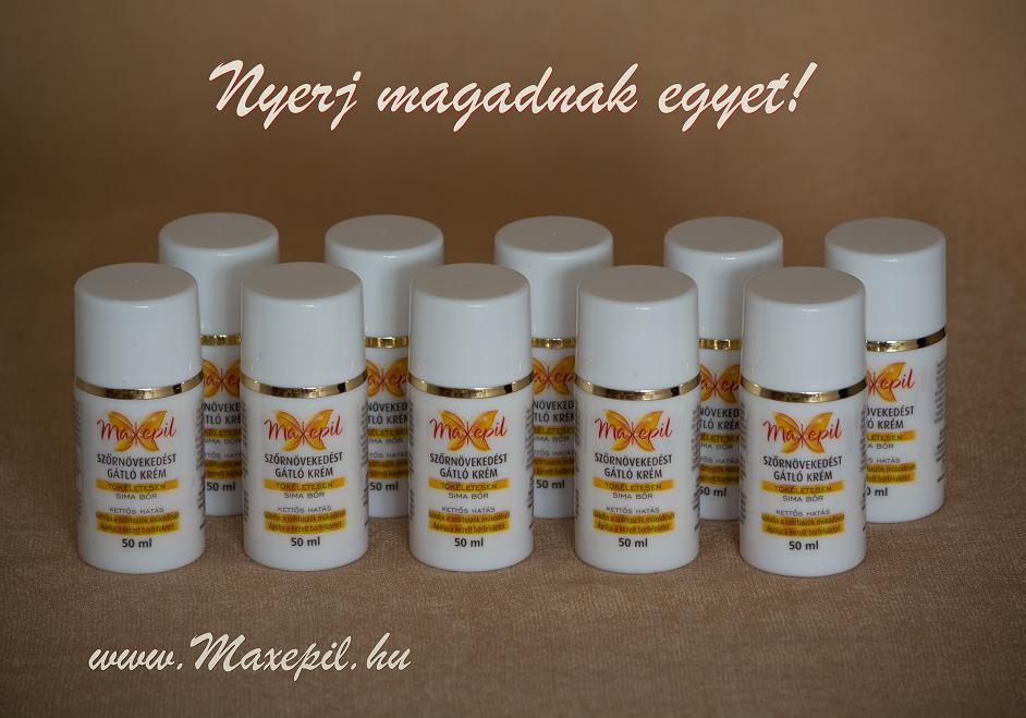 Nyerj Maxepil szőrnövekedést gátló krémet!