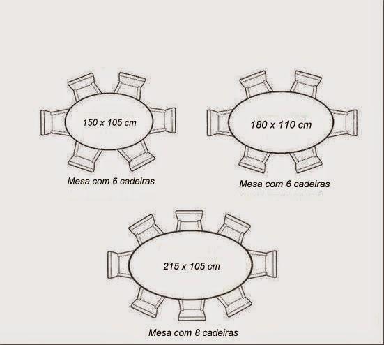 Top Medidas de mesas de jantar : redondas, ovais e retangulares  DZ49