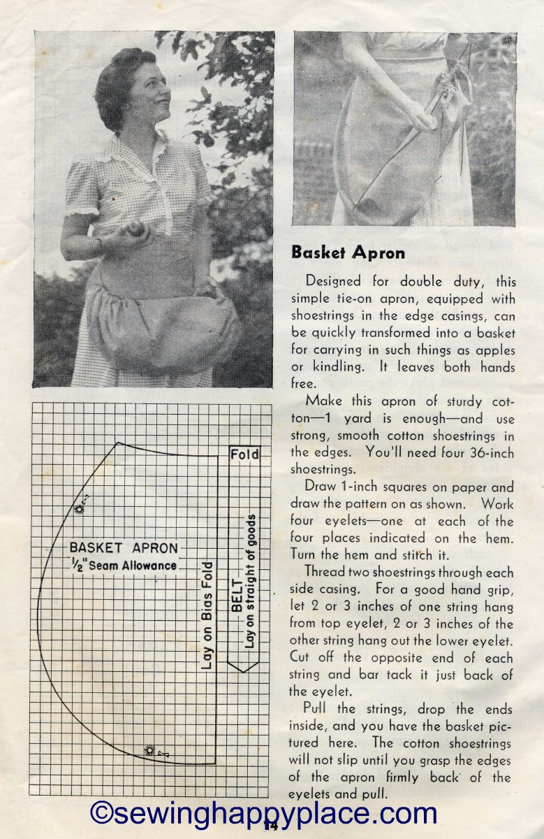 Berry Picking Apron Tutorial From 1944 Usda Farmers