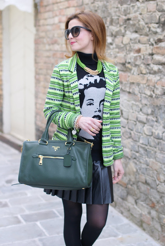 Maison Scotch neon blazer, Prada bag, Fashion and Cookies