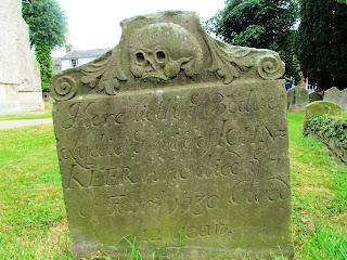 unusual gravestone, graveyard, Framlingham, churchyard, Christian, skull, creepy, old, weathered