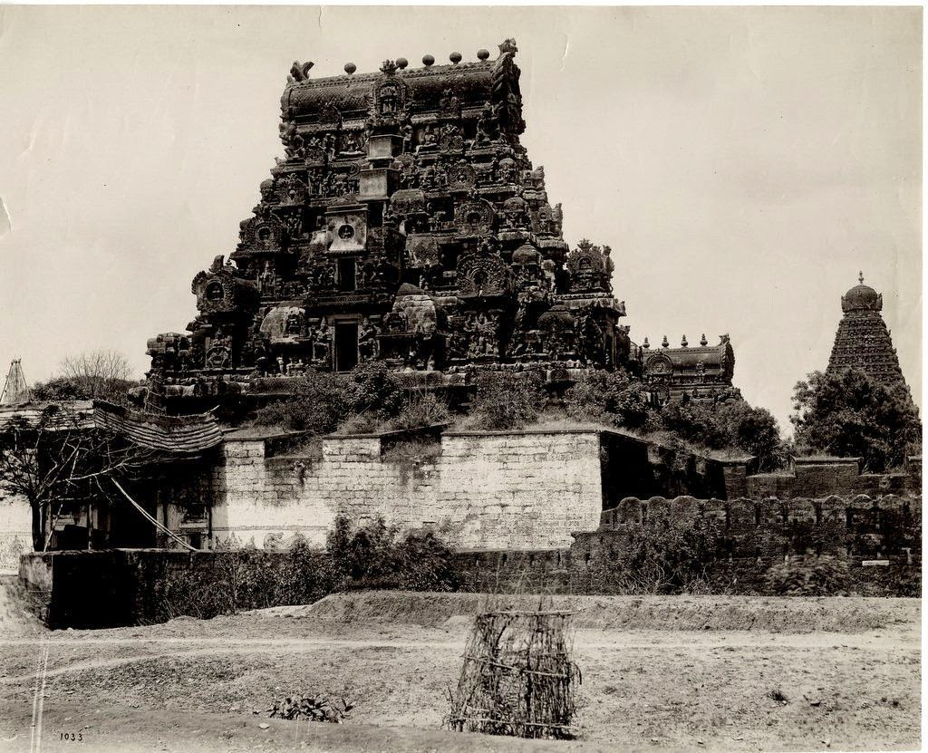 Side Entrance to a Temple - Tanjore, Tamil Nadu c1890's