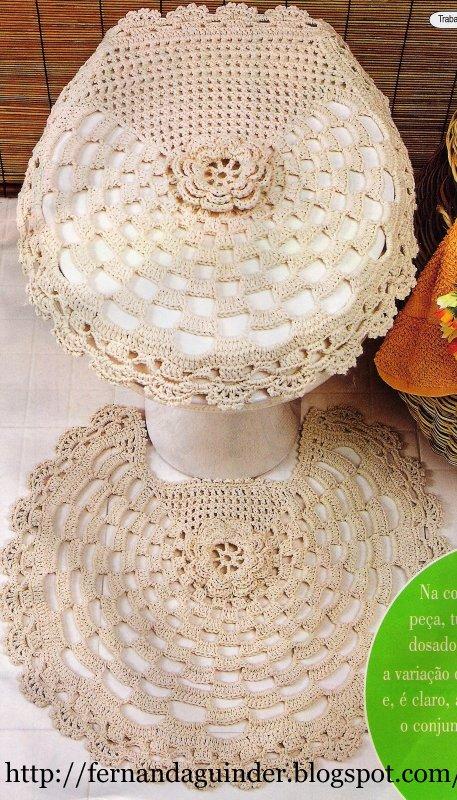 Tapete Floral Para Banheiro : Fernanda Guinder: Conjunto de tapetes para banheiro com flores cru