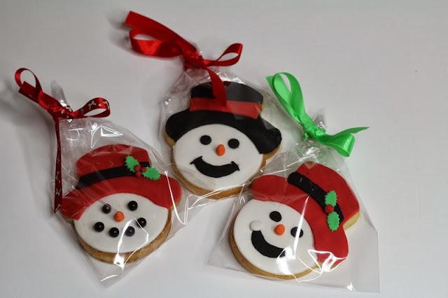 Snowman cookies UK
