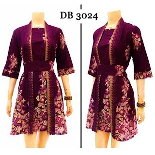 DB3024 Model Baju Dress Batik Modern Terbaru 2013