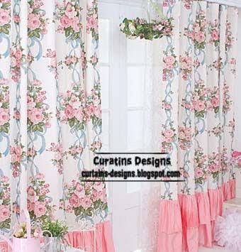 Curtains made to measure of different fabrics, pink curtains