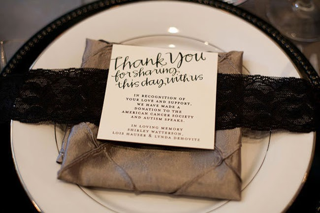 San Diego Style Weddings: Personalized Touches: Charitable Favors