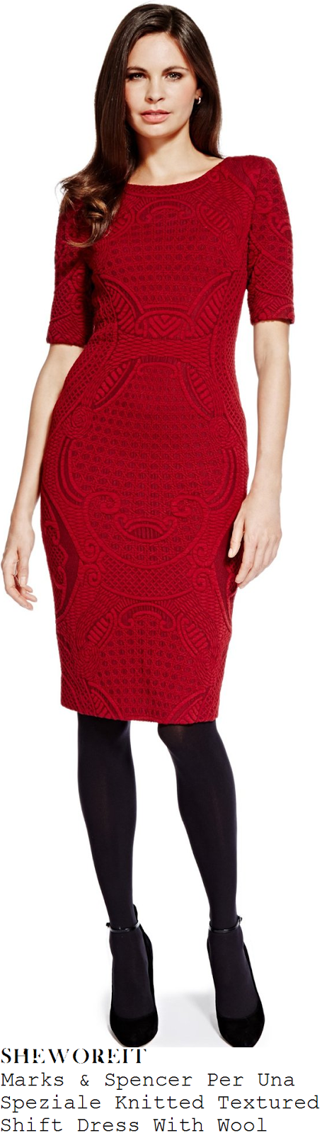 holly-willoughby-red-textured-knit-dress-this-morning
