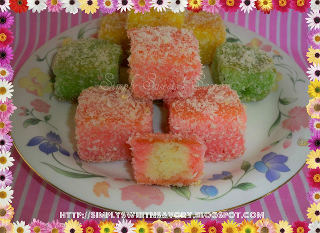 Rainbow Lamingtons