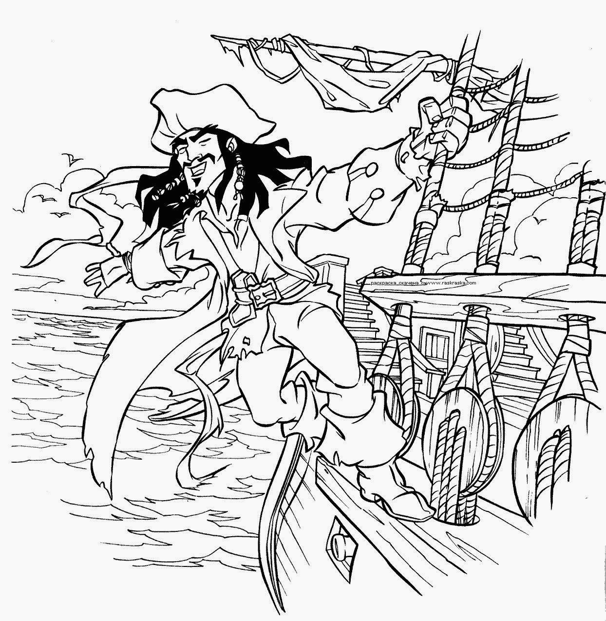 Cuentos infantiles: Piratas del Caribe para colorear. Dibujos para ...