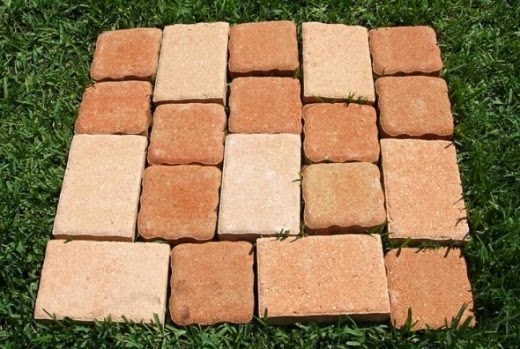 establish a pattern for your stone pavers patio project