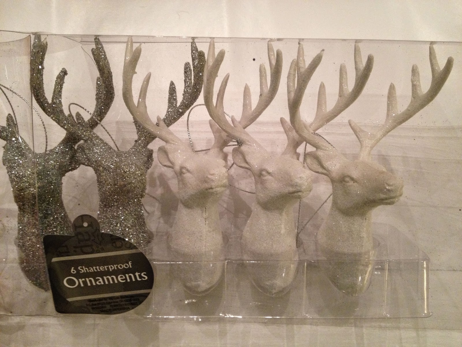 deer head ornaments, the altered past blog