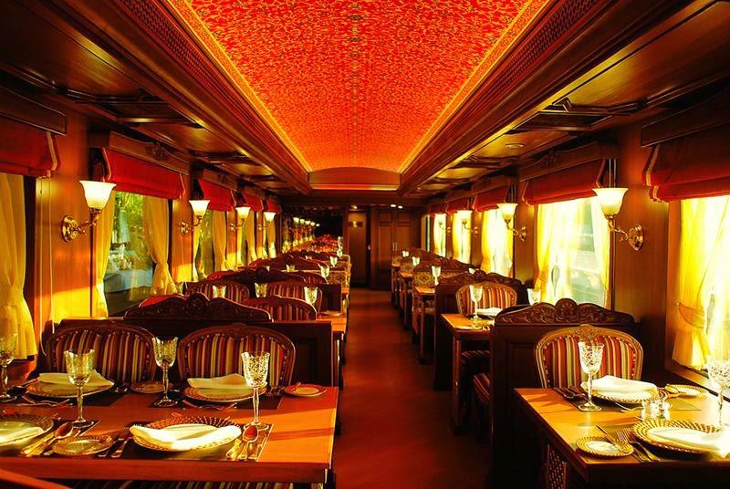 Maharajas' Express - Rang Mahal, dining.