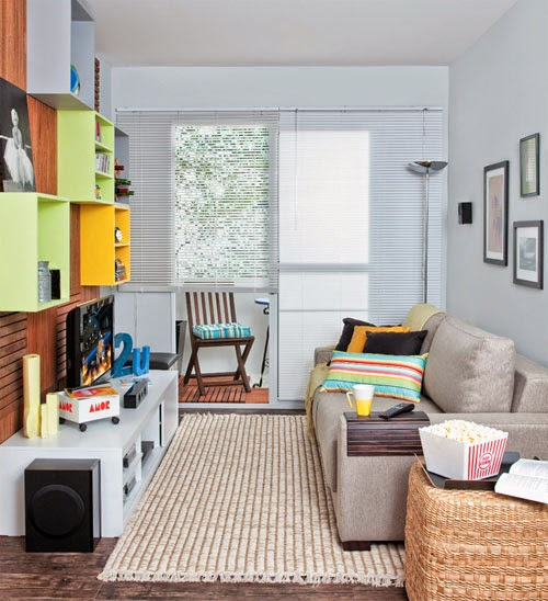 Fotos de dise os de salas peque as salas con estilo for Salas muy pequenas