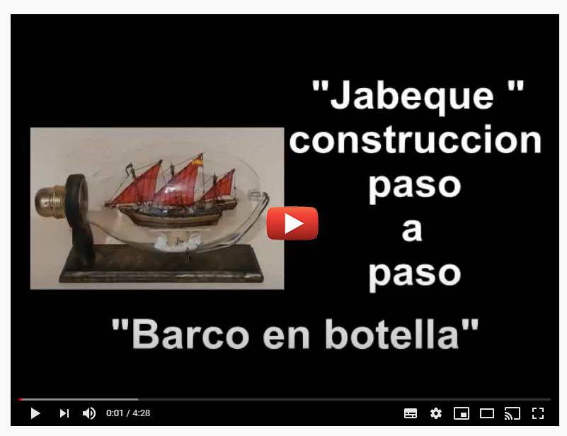 barco en botella jabeque español