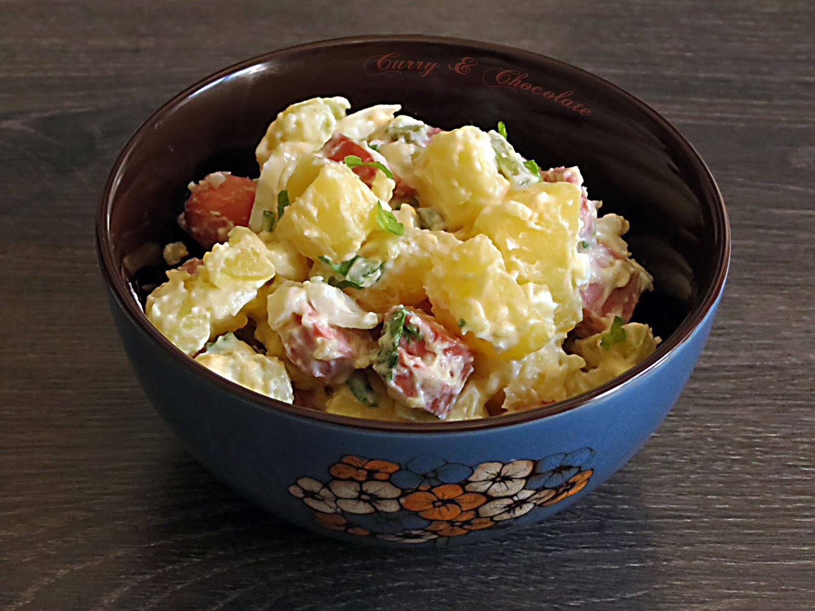 Ensalada alemana de patatas o kartoffelsalat  - German potato salad