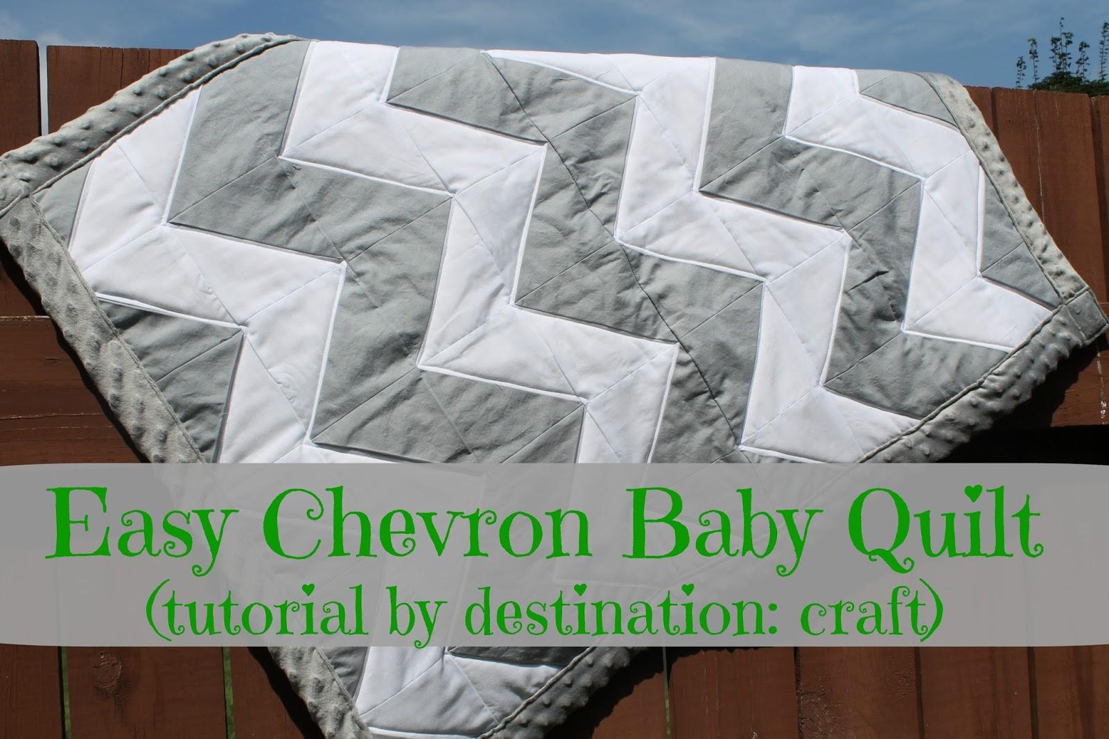 Destination: Craft: Easy Chevron Baby Quilt : chevron baby quilt - Adamdwight.com