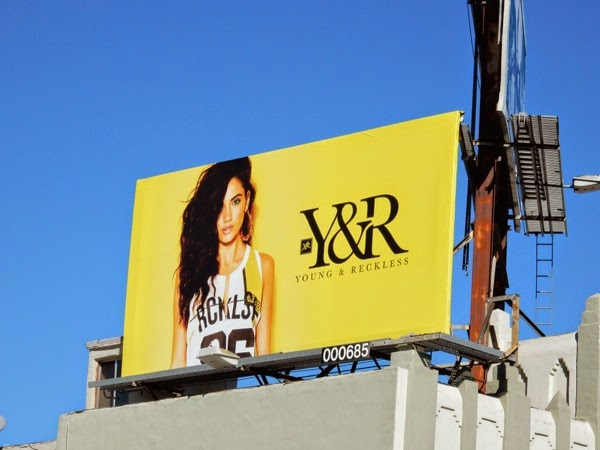 Yellow Young and Reckless Spring 2015 billboard