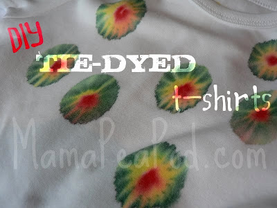 DIY Tie-Dyed T-Shirts for the Whole Family - hungry caterpillar colours