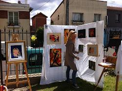 """Photo prise lors de l'exposition """"Le Jardin s'expose"""", Villeneuve le Roi, 24 juin 2012"""