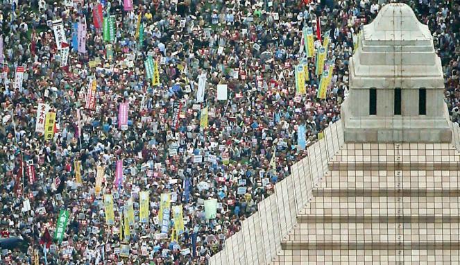 Unjuk Rasa Besar-besaran Terjadi Di Tokyo