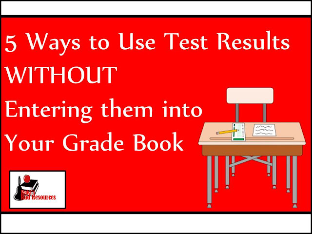Five ways to use tests without entering them into your grade book - Use your assessments to drive your instruction. Ideas from Heidi Raki of Raki's Rad Resources