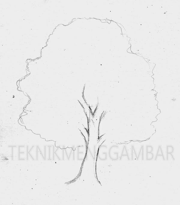 Teknik Menggambar Pohon Tak Berdaun