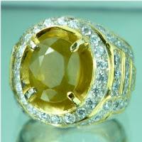 Batu permata natural yellow sapphire, safir kuning, yakut, batu mulia ...
