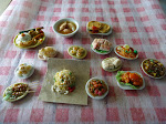 My handmade miniature clay local food