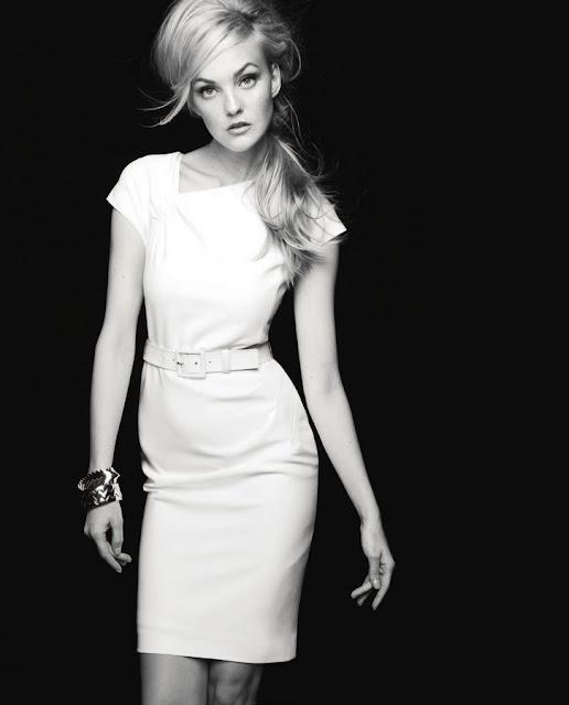 Caroline Trentini sexy in white dress
