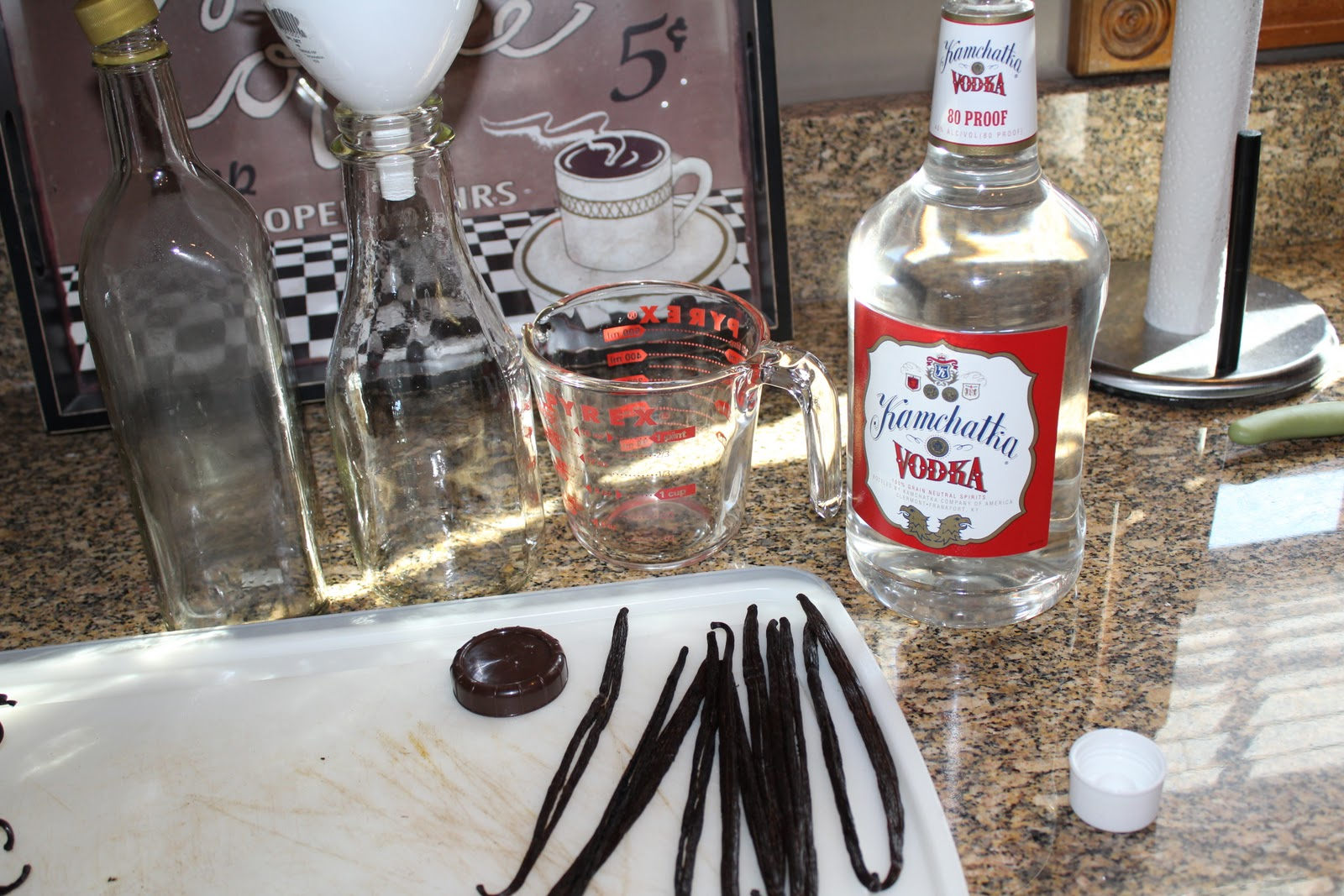 It 39 s time to green making my own vanilla for How to cut glass bottles lengthwise