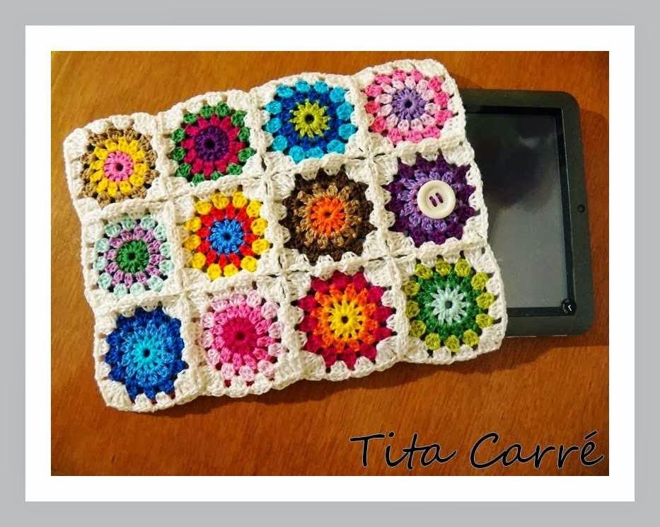 Case para tablet em crochet