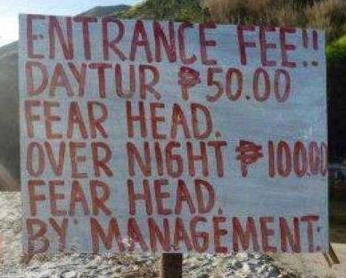 Funny signage gone wrong