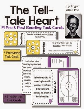 http://www.teacherspayteachers.com/Product/The-Tell-Tale-Heart-Pre-and-Post-Reading-Task-Cards-1075628