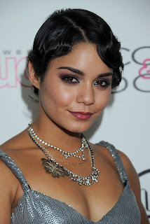 Vanessa Hudgens chic 1920s style finger wave hairstyle