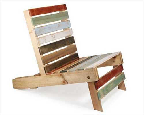 Wood Pallet Outdoor Furniture Chair (4 Image)