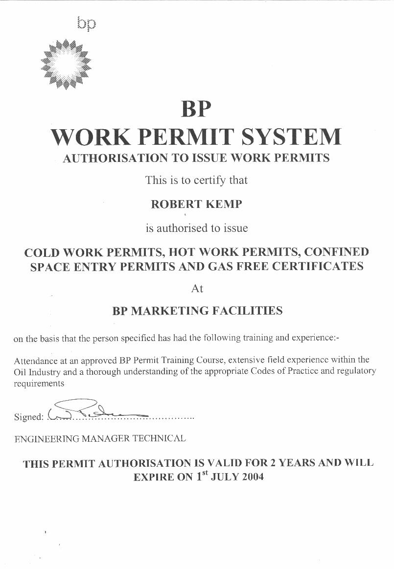 Safe work permitnew form contoh work permit printable hot pronofoot35fo Image collections