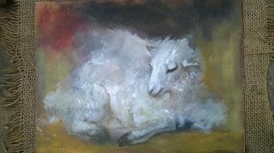 Piccola tela dipinta a olio Cristina Gemellaro