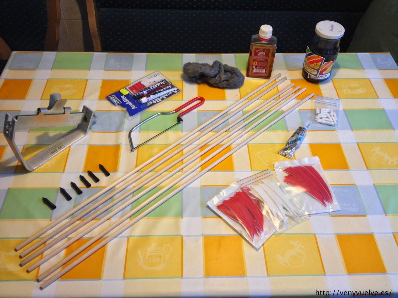 materiales necesarios para hacer flechas de madera