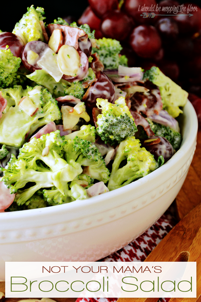 I took my mom's (and lots of moms') go-to potluck dish and turned it into Not Your Mama's Broccoli Salad by switching out a few ingredients...but definitely amping up the flavor throughout. It's still perfectly delicious, y'all.