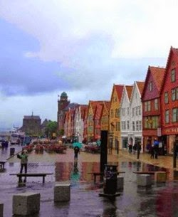 Visitar Bergen - Lluvia en Bergen