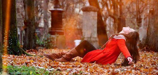 sexy girl in autumn Cover Photo For Facebook
