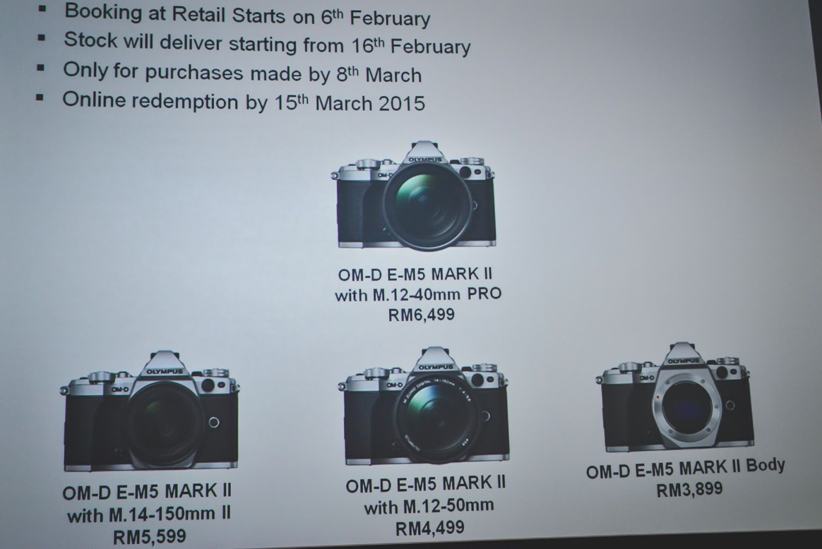 Olympus Om D E M5 Mark Ii Launch Offer In Malaysia Price List Kit 12 40mm Black For