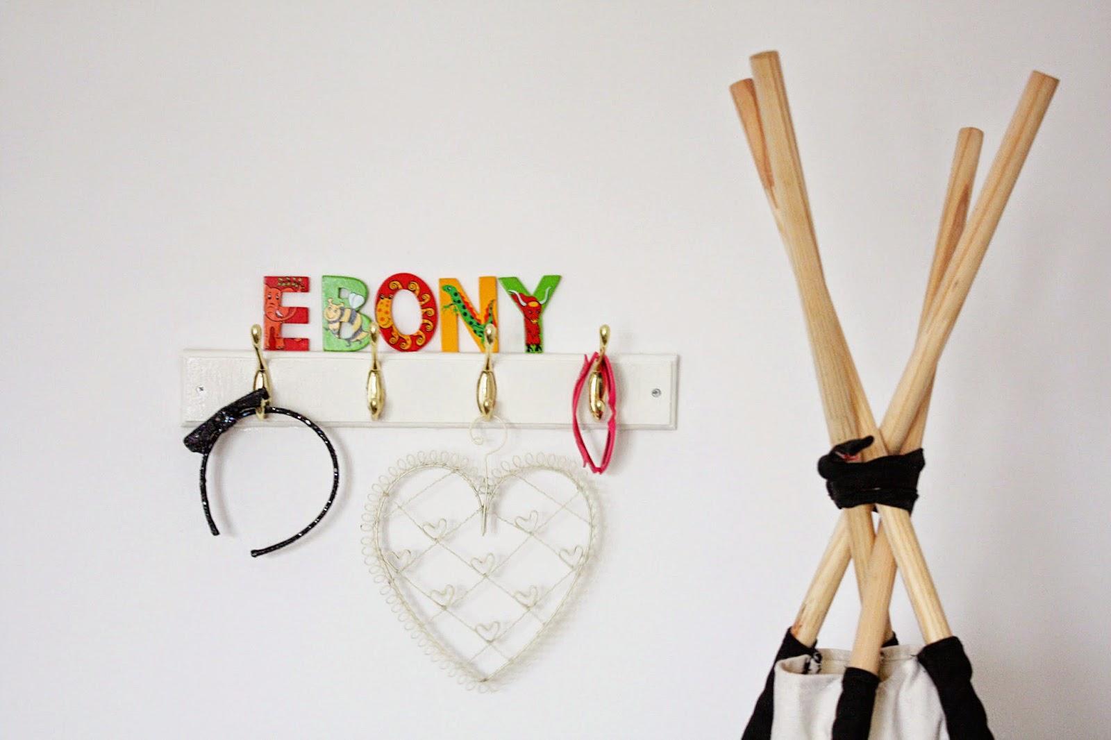 Teepee Ebony's bedroom