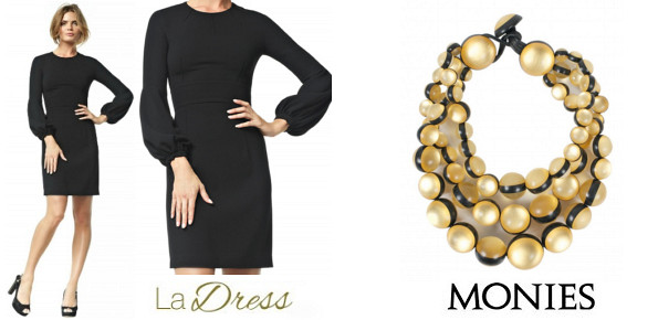Queen Maxima's LA DRESS Maria Schwarz Dress And MONIES Gold Choker Necklace