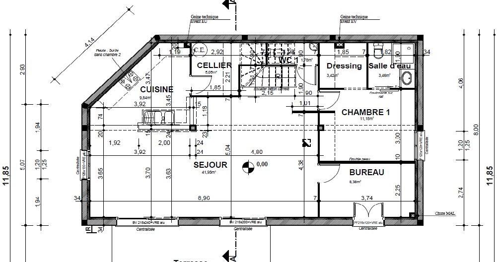 Plan maison avec suite parentale - Plan maison avec suite parentale ...