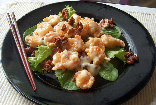 Cosmopolitan Foodies: Honey Walnut Prawns
